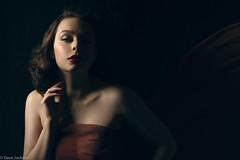 Alice (barbara.jackson55) Tags: alicekatz canon7d chiffon fabric sheer tulle dramatic portrait light studiolighting elinchromdlite pixapro shadows vintage