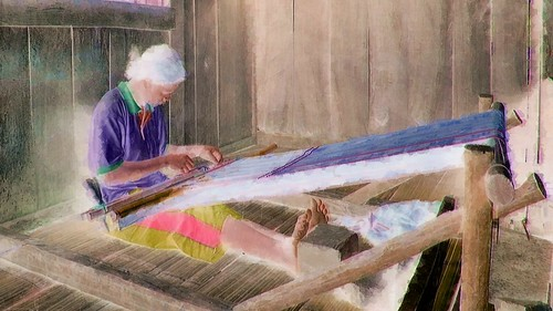 Indonesia - Flores - Traditional Village Bena - Weaving - 31bb