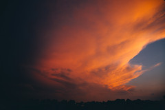 orange cloud mass (viewsfromthe519) Tags: sky skyscape clouds stthomas ontario canada weather summer evening orange pink blue red storm