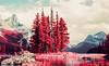 Spirit Island in Maligne Lake, Jasper Alberta, Canada (kgartner) Tags: kodakeir kodakeirinfrared kodak film infrared