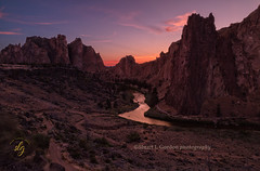 Sunset at Smith Rock (chasingthelight10) Tags: events photography landscapes nature highdesert sunset places centraloregon smithrock oregon smithrockstatepark crookedriver otherkeywords river vistas
