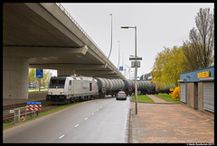 Rheincargo DE 803, Amsterdam Westhaven 01-04-2017 (Henk Zwoferink) Tags: amsterdam noordholland nederland nl henk zwoferink nwb wlc irp independent rail partner rheincargo de bombardier dieseltraxx traxx 803 mev