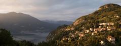 Vezio sunset-1 (Paul Dykes) Tags: italy italia lombardy lombardia lakecomo lagodicomo lepontinealps alps mountains houses trees sunset eveninglight vezio it