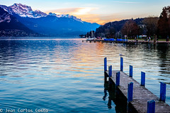Lago de Annecy. (jcfcosta) Tags: dusk sunset luz light france frança annecy blue lake lac lago