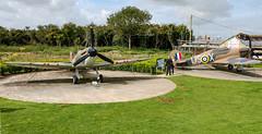 Battle of Britain, Memorial at Capel Le Ferne.  Replica Hurricane. (philbarnes4) Tags: battleofbritainmemorial capelleferne kent folkestone england dslr philbarnes aircraft fighter fighters combat memory remember