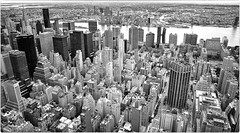 Empire State of Mind (Steve Lundqvist) Tags: new york usa states united america manhattan stati uniti travel trip viaggio bw urban city urbanscape ny nyc monochrome nikon downtown building landscape panorama view point monocromo architecture cityscape top empire overlook structure pattern big apple architettura città edificio wide angle skyscraper grattacielo
