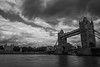 The Towers (Explored 20 August 2017) (magpiedom) Tags: bridge london st pauls cathedral thames river nd 9 ndx400 clouds sky ghosts trails long exposure monochrome architecture tower hill tokina 1120mm f28