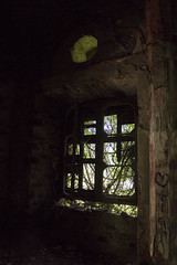 Window II (Milena Galizzi) Tags: abandoned forgotten house re red villa de vecchi noble window ivy flora architecture infested ghost
