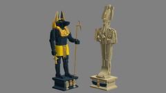 Egyptian Statuettes - LEGO Ideas (legomocs.) Tags: lego egypt egyptian statuette ideas anubis osiris ldd deities