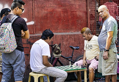 Game On..... (Beegee49) Tags: street men sitting playing chess watching board game bacolod city philippines