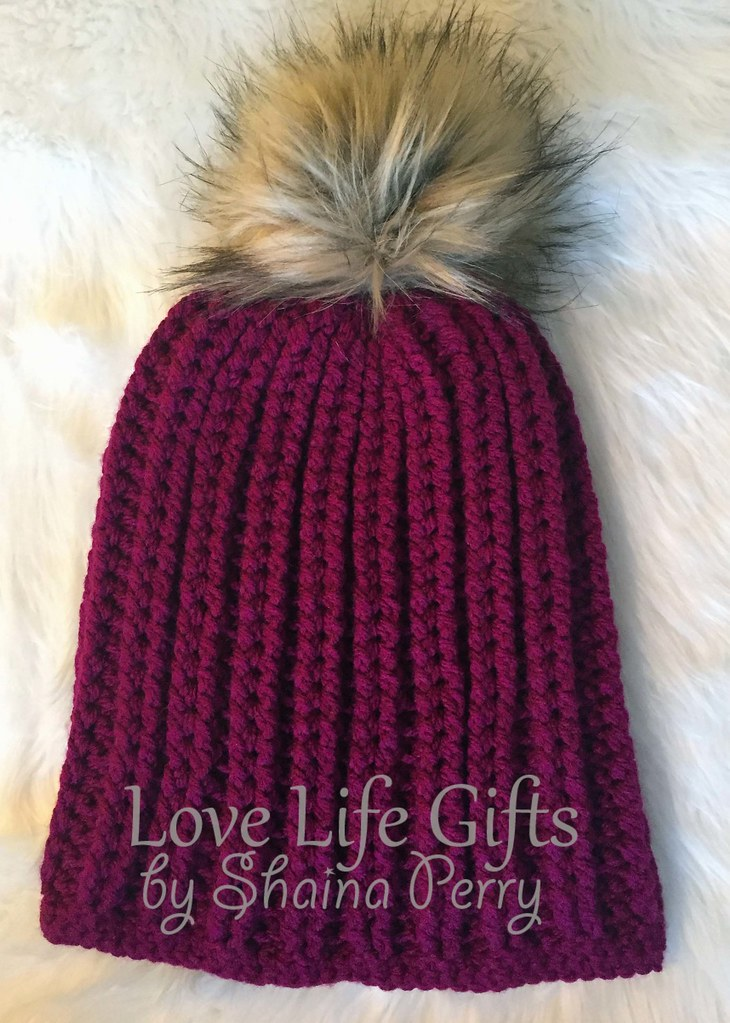 a3a62d921c0 maroon fur pom pom hat (LoveLifeGifts) Tags  accessories hats caps slouchy  fur pom