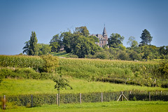 Hulsberg (enneafive) Tags: hulsberg borgloon fujifilm xt2 landscape castle hesbania limburg trees sky blue green fence bluesky colorful nature summer celticcultsite