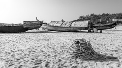 Fishing Boats (Marcel Weichert) Tags: beach boats fisherman india indianocean kerala kovalan ocean rope thiruvananthapuram trivandrum