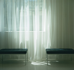 diaphanous (kaumpphoto) Tags: rolleiflex 120 seating bench window sheer light tlr texture ghostly transparent minneapolis