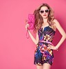 bold and bright floral prints (jancamilleri) Tags: fashion spring floral summer dress jumpsuit model outfit smile woman bodycon blond wavy glamour fashionwoman playful happy stylish trendy luxury summerdress lady colorful beauty female emotion girl sunglasses creative hairstyle pose sexy studio blonde makeup background attractive fashionsunglasses accessories caucasian pink people ukraine ukr