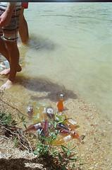 Redding, California (Caroline Kutchka Folger) Tags: sodas jarritos summer lake swimming sun redding water feet legs young travel california northerncalifornia colors sunny bright 35mm film analog