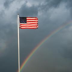 20170907 (Homemade) Tags: flag rainbow rain rainclouds starsandstripes starspangledbanner danbury ct connecticut sonydscrx100 fairfieldcounty square bsquare