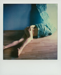 Wrapped Up (© Marcin Michalak (MarcinMichalak@outlook.com)) Tags: impossibleproject impossible theimpossibleproject sx70 polaroidsx70 kolor instantfilmcolor analogfilm polaroidfilm polaroid nude akt instantfilm color analog katowice śląskie poland pl