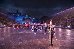 Tattoo 2nd Visit-43 (Philip Gillespie) Tags: 2017 edinburgh international military tattoo splash tartan scotland city castle canon 5dsr crowds people boys girls men women dancing music display pipes bagpipes drums fireworks costumes color colour flags crowd lighting esplanade mass smoke steam ramparts young old cityscape night sky clouds yellow blue oarange purple red green lights guns helicopter band orchestra singers rain umbrella shadows army navy raf airmen sailors soldiers india france australia battle reflections japan fire flames celtic clans