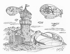 Faroe (rod1691) Tags: bw scifi grey concept custom car retro space hotrod drawing pencil h2 hb original story fantasy funny tale automotive art illistration greyscale moonpies sketch sexysells
