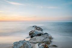 Sunset (Sandra Julie Photo) Tags: nikon beach france normandie rochers cabourg calvados mer cabourgplage coucherdesoleil sunset sky sun