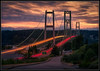 Peaceful Bridges (Ernie Misner) Tags: f8andbridgesrock narrowsbridge narrows tacomawashington tacoma washington longexposure ndfilter erniemisner nikond810 d810 70200f4 lightroom nik topazstudio topaz capturenx2 cnx2