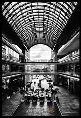 Mall of Berlin (Krueger_Martin) Tags: architecture schwarz weis black white schwarzundweis blackandwhite blacknwhite weitwinkel wideangle canoneos7d canonef1635mmf4lis hdr photomatix dark dunkel berlin lp12 mallofberlin city stadt urban mall einkaufszentrum center shopping einkaufen