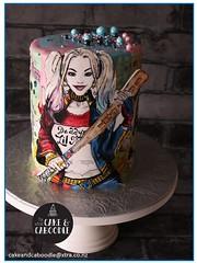 harley quinn (The Whole Cake and Caboodle ( lisa )) Tags: caboodle cake cakes thewholecakeandcaboodle whangarei girl girls birthdaycakeswhangarei birthdaycakes harleyquinn suicidesquad handpainted