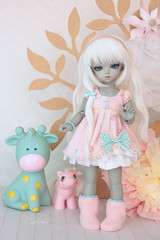 Choupie ^^ (cachoou) Tags: doll bjd soom bygg grey love couture cachooucouture dress pastel pink mint