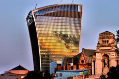 Dawn reflection (Croydon Clicker) Tags: tower office walkietalkie london city reflection glass sunrise dawn nikon nikkor 1000v40f