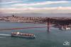 Guthorm Maersk (Selkii's Photos) Tags: bay bridge california fortpoint goldengatebridge sanfrancisco sanfranciscobay water containership