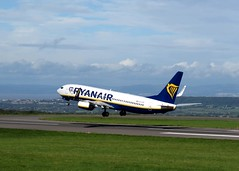 Photo of Ryanair Boeing 737-8AS EI-FTP taking off from Bristol Airport, Lulsgate, Somerset