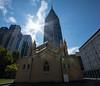 Sacred skyscraper (Alex Ferrero) Tags: melbourne australia church skyscrapper skyline architecture arquitectura iglesia rascacielo santo dios