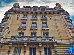 Paris France ~  Parisian Architecture ~  Haussmann Plan  ~ A Modernization Program (Onasill ~ Bill Badzo) Tags: paris france europe onasill national monument mansard roof parisian architecture style haussmann french plan 19th century napoleon lll seine river downtown sky clouds charm beauty city urban parisians attraction site tourist travel mustsee tower program second empire 1001nights building balcony