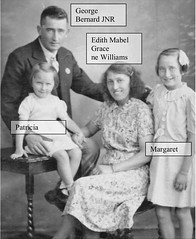 George Bernard Mahon Jr and Edith Mabel Grace Williams with daughters