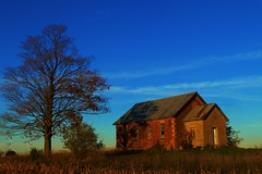 In the middle of nowhere (Explore!) (SCOTTS WORLD) Tags: adventure abandoned architecture america angle autumn fun fall november 2016 sky shadow sunlight school september 2017 trees texture clouds country crusty rural red rusty ruin digital decay dilapidated windows weathered weeds field light leaves ruth michigan midwest sooc color oneroomschoolhouse thumb panasonic pov perspective exploring empty enhanced