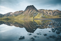Reflections meet perfection in Iceland. (Bokehm0n) Tags: landscape nature vsco explore flickr earth travel folk 500px reflections minimal canon moody weather photography outdoors lakes wilderness iceland