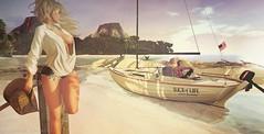 Slice of Life (*♥* Victoria Loveless *♥*) Tags: secondlife second life sl virtual 3d woman lady girl blond beach sea boat sail landscape banditif bandit if