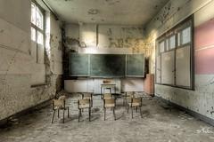 school (Captured Entropy) Tags: lostplace urbex decay derelict abandoned school blackboard
