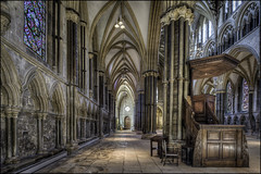 Lincoln Cathedral 29 (Darwinsgift) Tags: lincoln lincolnshire cathedral interior hdr nikkor 19mm f4 pc e tilt shift tiltshift perspective control nikon d810