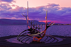 viking boat (diamir8000) Tags: iceland boat reykjavik geotagged monument travel clouds midnight