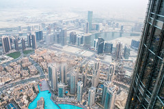 Dubai at Dusk (derekbruff) Tags: 125thfloor burjkhalifa dubai dusk view