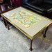 World map coffee table glass top E60