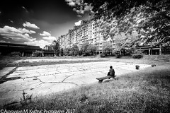 Drowning (Aleksandar M. Knezevic Photography) Tags: belgrade beograd serbia srbija new blackandwhite urban stret streetlife urbanlife life lonely lonelyness old woman alone sad tough