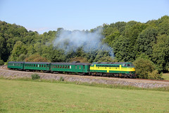 TSP NMBS 5205 Spontin 14-08-2017 (Spoorhaar) Tags: tsp 5205 nmbs bocqspoorweg spontin museum museumspoor railway eisenbahn diesel loc locomotief museumlijn