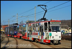 935-2011-03-29-1-Stadthalle (steffenhege) Tags: zwickau tram strasenbahn ckd kt4dm 935