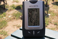 Temperature at the start of the eclipse
