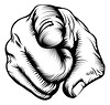 Hand pointing at viewer (DelphHealf) Tags: art artwork black cartoon carving clip clipart concept conceptual control design direction directional directions drawing drawn finger fist forward front gesture government graphic hand human illustration line lines man need point pointing recruit recruiting retro right sam sign signs thumb uncle vector viewer want wants white woodblock woodcut you