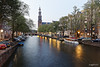 Amsterdam. (alamsterdam) Tags: singel canal boats longexposure reflection bridge architecture cars church westertoren