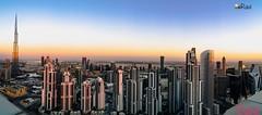 Business Bay.....  Dubai... (ravijaichand) Tags:  dubaifountain eveningsky burjkhalifa skyline businessbay dubai panorama
